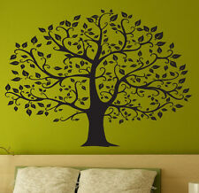 "Beautiful TREE  Wall Decal Deco Art Sticker Mural in BLACK - size: 45""x33"""