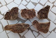 Vintage Collectible Brass Strip Made Printing Block Cut Lot # 5 Different Figure