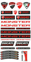 Ducati Monster 696 797 821 Motorcycle 54 Stickers Set Decals 1200 S Red /12