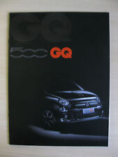 Fiat 500 GQ UK Sales Brochure (2013)
