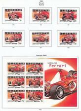 GIBRALTAR # 993-998,998a  VF-MH  2004 FERRARI + SOUVENIR SHEET CAT VALUE $20