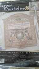 RARE Teresa Wentzler Birth Announcement counted cross stitch kit, sealed