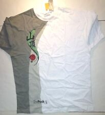 *NWT* UNISEX PEAK TEMPTATIONS WHITE COTTON SHIRT MEDIUM J149