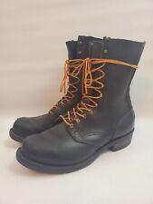 VTG Wesco Highliner Lineman Motorcycle Men's 12 D Black Leather Boots
