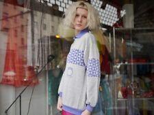 Damen Pullover MARS SINCE1975 80er TRUE VINTAGE 80s woman sweater LILA GRAU