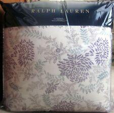 Ralph Lauren Alessandra Ardsley Cream Lavender Floral King Comforter New $470!