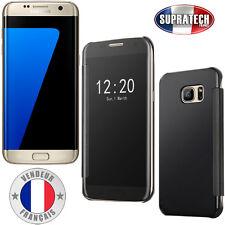 Coque Housse Noir Effet Miroir Transparent pour Samsung Galaxy S7 Edge G935