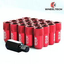 20 Red Aluminum M12x1.25 42mm for NISSAN INFINITI SUBARU SUZUKI Wheel Lug Nuts