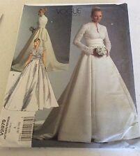 Vogue Pattern 2979 Bridal Original Wedding Dress / Gown & Sash  MISSES SZ 6-10