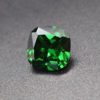 10X10mm 6.75ct Natural Mined Green Emerald Square Cushion Cut VVS Loose Gemstone