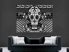 SKULL TRIPPY ART ABSTRACT  GIANT WALL POSTER ART PICTURE PRINT LARGE HUGE