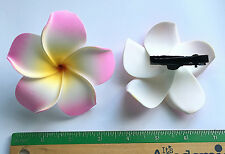 Hawaiian Tropical Flower Hair Clip Pink Plumeria Hawaii Beautiful Foam Jewelry N
