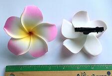 Hawaiian Tropical Flower Hair Clip Pink Plumeria Hawaii Beautiful Foam Jewelry