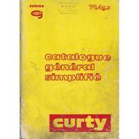 Catalogue CURTY simplifie - pochettes et Joints moteur  - Payen Curty - CUR-79.4