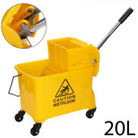 20 L Kentucky Mop Bucket and Wringer Yellow Cleaning Mopping Commercial  UK
