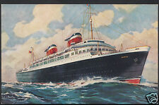 Shipping Postcard - S.S.America - United States Lines  A9558