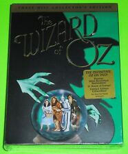 The Wizard of Oz (DVD, 2005, 3-Disc Set, Collectors Edition) NEW corner damage