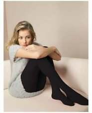 Women's Black Burgundy and Cream Warm Oroblu Nikki Ribbed Wool & Cotton Tights