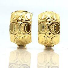18K Yellow Gold Hoop Earring 2.9 Grams