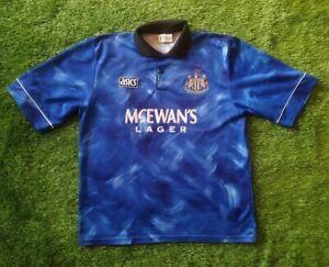 FC NEWCASTLE UNITED 1993/1995 L SIZE AWAY  FOOTBALL SHIRT JERSEY ASICS VINTAGE