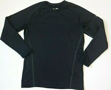 Mens Under Armour Cold Gear Base 3.0 Layer Shirt size Small black fitted