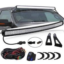 For 99-06 GMC/Chevy 54 inch Curved LED Light Bar W/Windshield Mounting Bracket