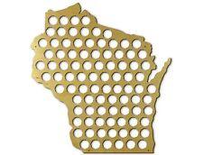 Beer Cap Traps Wisconsin State Map Beer Soda Pop Bottle Wood Cap Caps Organizer