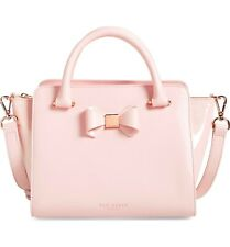 Ted Baker London NWT Ashlene Bow Leather Satchel Bag Purse Tote Nude Pink