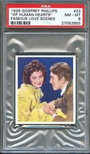 1939 Famous Love Scenes Card #23 Of Human Hearts JAMES STEWART Rutherford PSA 8