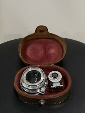 Canon SERENAR 35mm f3.2 Camera Lens. Leica Screw Mount M39 With Case And Finder