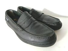 COLE HAAN 1928 Mens US 8.5M Casual Black Pebble Leather Soft Loafer Shoes