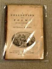 Authors / COLLECTION OF POEMS IN SIX VOLUMES BY SEVERAL HANDS 1763