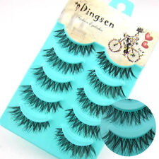 Hot Sale 5Pairs Black Handmade Messy Natural Cross False Eyelashes