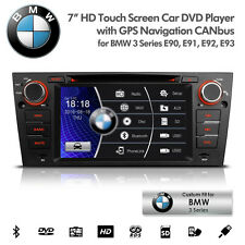 "7"" Car DVD Player GPS Radio USB SD AUX Bluetooth Stereo For BMW E90 E91 E92 E93"