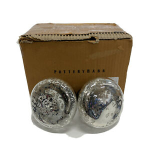 Pottery Barn Antique Bronze Vintage Mercury Glass Finial Set of 2 OPEN BOX  $50