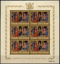 Cook Islands 1966 SG#194a, 1d Christmas MNH Sheetlet P13x14.5 #C151