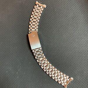 Vintage Mens Rare Zodiac Sea Wolf 18MM Band JB Champion USA Full Length Bracelet