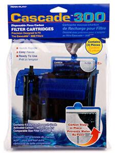 Penn Plax Cascade 300 GPH Filter Cartridges 3-Pack Free Shipping, New, Free Ship