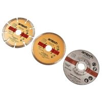 3 pc DIAMOND DISC AND STONE CUTTING GRINDING BLADES 115mm TILES MARBLE GRANITE