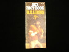 1973 British Columbia Lions CFL Media Guide