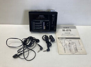 AIWA HS-J370 Stereo Radio Cassette Recorder Black Tested Working Good F/S