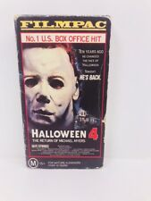 HALLOWEEN 4  THE RETURN OF MICHAEL MYERS Unedited Version  VHS Video  RARE