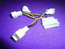 D Type 4 Pin IDE Molex to 4 x 3 Pin Male 12V CPU Fan Power Adapter Cable 10cm
