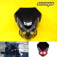 Suzuki Bandit 400 600 1200 GSF Stunt Streetfighter Black LED Headlight Fairing