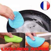 Magique Silicone éponge cuisine Brosse Nettoyage Plat Bol Récurer Facile Cleaner