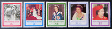 1986 Pitcairn Islands Stamps - Queen Elizabeth II's 60th Birthday - Set 5 MNH