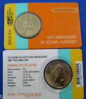 2016 Gold Plated 50 cent Decimal Currency World Money Fair WMF Berlin in card