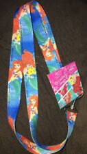 "New Disney Little Mermaid Lanyard 18.5"" Ariel GREAT FOR COLLECTOR PINS WDW TRIP"
