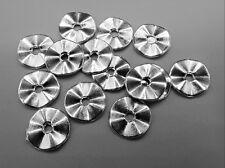 """10 St Perlen Zwischenperlen /""""Twist/"""" Abstandshalter Silberfarben 10 mm"""
