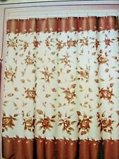 Fabric Shower Curtain Tan, Brown Floral (I Have 1 in Green Too!) New!